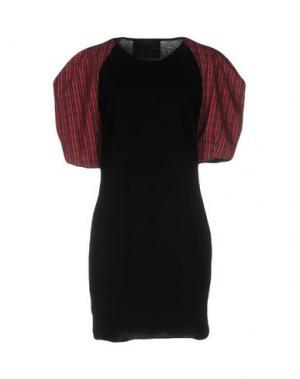 Короткое платье BAD SPIRIT. Цвет: черный
