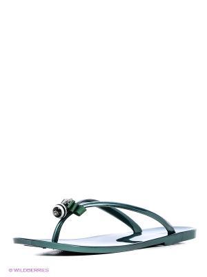 Шлепанцы Mon Ami. Цвет: зеленый