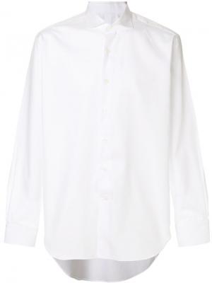 Классическая рубашка Alessandro Gherardi. Цвет: белый