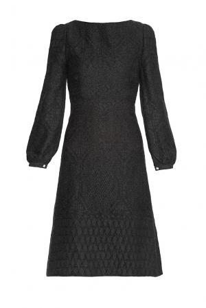 Платье из шерсти 136803 Villa Turgenev. Цвет: черный