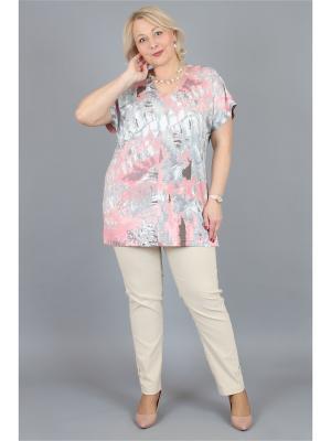 Блузка NadiN. Цвет: серый, розовый