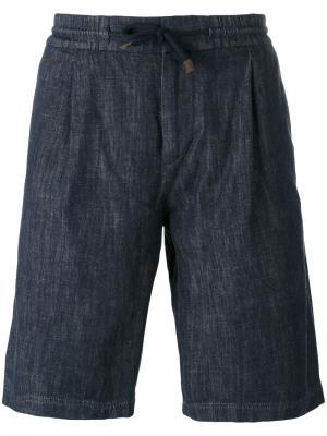 Шорты на шнурке Brunello Cucinelli. Цвет: синий