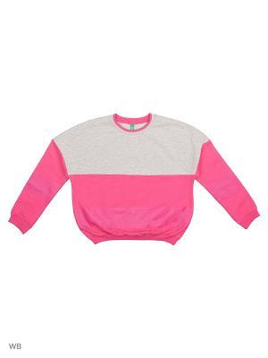 Свитшот United Colors of Benetton. Цвет: розовый, фуксия