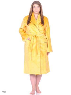 Халат Nicole collection. Цвет: желтый