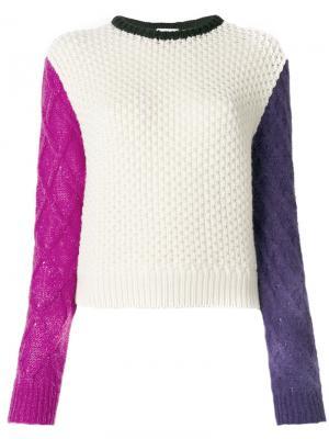 Джемпер с разноцветными рукавами Fausto Puglisi. Цвет: многоцветный
