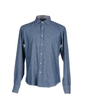 Джинсовая рубашка PANAMA. Цвет: синий