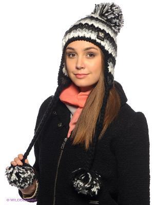 Шапка Viking caps&gloves. Цвет: черный, белый, темно-серый