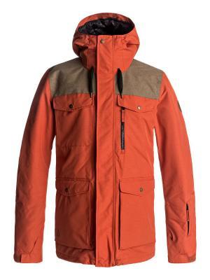 Куртка сноубордическая Quiksilver. Цвет: рыжий