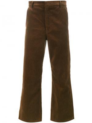 Укороченные вельветовые брюки Martine Rose. Цвет: коричневый