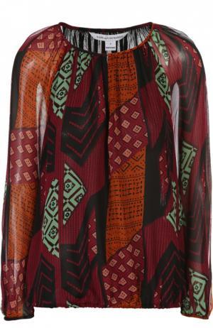 Блуза Diane Von Furstenberg. Цвет: разноцветный