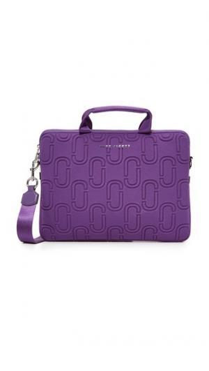 Неопреновая сумка Commuter с двумя буквами J для ноутбука диагональю экрана 13 дюймов Marc Jacobs. Цвет: фиолетовый