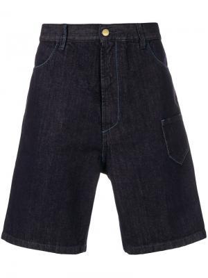 Джинсовые шорты свободного кроя Marni. Цвет: синий