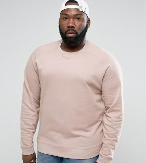 ASOS Розовый свитшот PLUS. Цвет: розовый