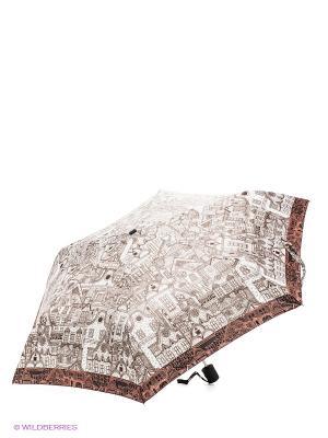 Зонт Labbra. Цвет: коричневый, молочный