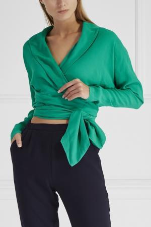 Однотонная блузка Cyrille Gassiline. Цвет: зеленый