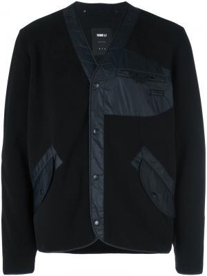 Куртка-бомбер со стегаными панелями Yang Li. Цвет: чёрный