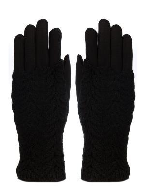 Перчатки с митенками Pretty Mania. Цвет: черный