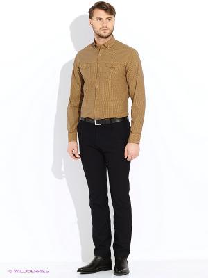 Рубашка Alfred Muller. Цвет: коричневый