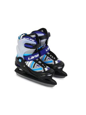 Коньки ледовые раздвижные Skyline Violet Larsen. Цвет: белый, черный, серый, голубой, фиолетовый