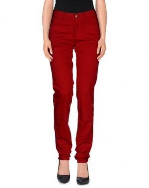 Повседневные брюки MONKEE GENES. Цвет: красно-коричневый