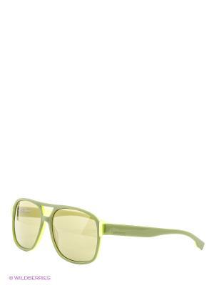 Очки солнцезащитные BK 213S 04 Bikkembergs. Цвет: салатовый