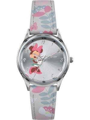 Часы Disney by RFS. Цвет: серебристый, белый, розовый