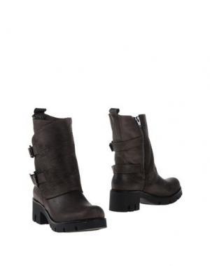 Полусапоги и высокие ботинки GENEVE. Цвет: свинцово-серый