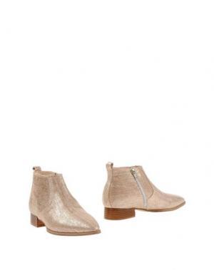 Полусапоги и высокие ботинки LORENZO MARI. Цвет: песочный