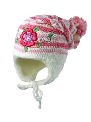 Шапка Kolad. Цвет: кремовый, бледно-розовый, розовый