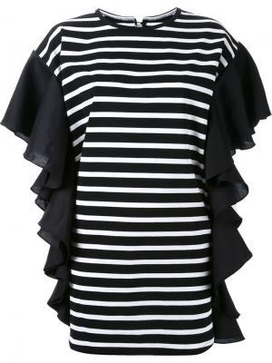 Платье в полоску DressCamp. Цвет: чёрный