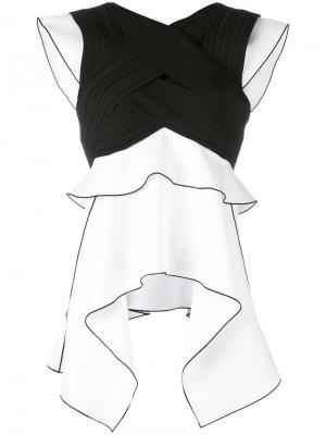 Блузка с монохромным принтом Proenza Schouler. Цвет: чёрный