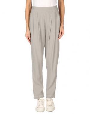 Повседневные брюки ENZA COSTA. Цвет: светло-серый