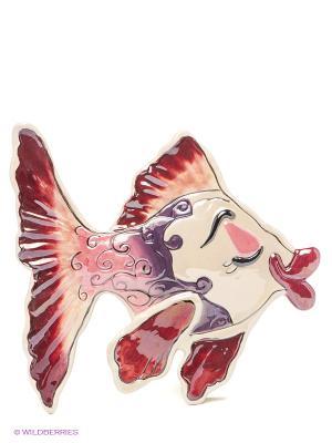 Панно настенное Рыба Blue Sky. Цвет: бордовый, фиолетовый, бежевый