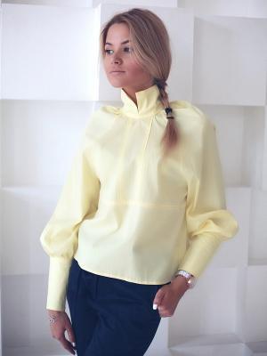 Блузка Wooly's. Цвет: светло-желтый