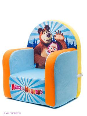 Детское кресло Маша и Медведь. Цвет: голубой
