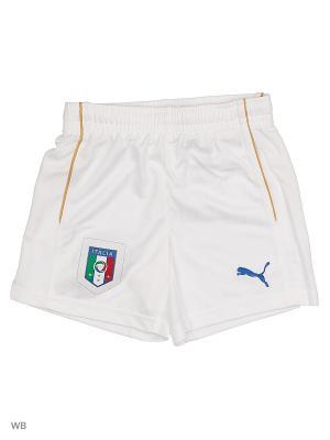 Шорты игровые FIGC Kids Shorts Replica Puma. Цвет: белый