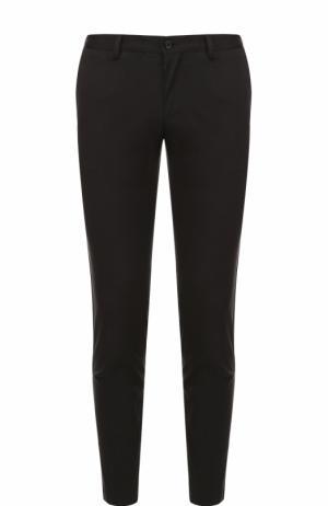 Хлопковые брюки с контрастными лампасами Dolce & Gabbana. Цвет: черный