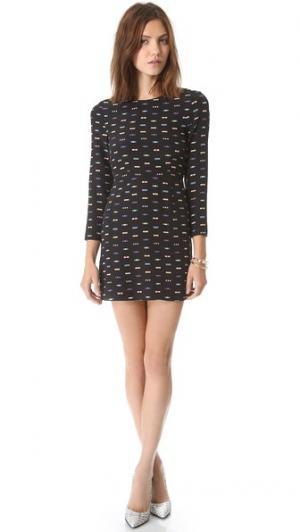 Платье-трапеция Christy Friends & Associates. Цвет: черный мульти