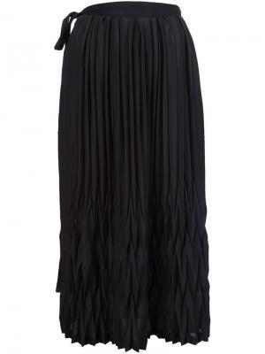 Плиссированная юбка Ys Y's. Цвет: чёрный