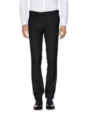 Повседневные брюки LUIGI BORRELLI NAPOLI. Цвет: стальной серый