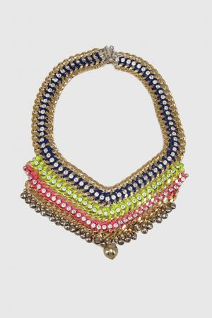 Колье с кристаллами Akong London. Цвет: multicolor