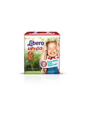 Libero Трусы детские одноразовые Up&Go экстра лардж плюс 16-26кг 12шт упаковка маленькая. Цвет: зеленый