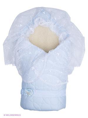 Одеяло-конверт Зимушка Сонный гномик. Цвет: голубой