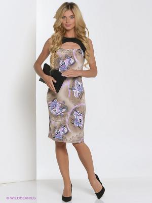Платье Hammond. Цвет: бежевый, сиреневый