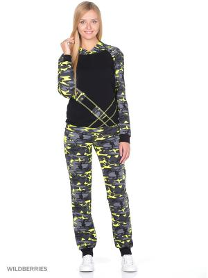 Спортивный костюм NAGOTEX. Цвет: черный, желтый