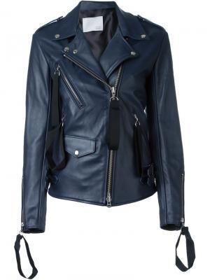 Байкерская куртка Matthew Miller. Цвет: синий