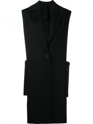 Пальто без рукавов Helmut Lang. Цвет: чёрный