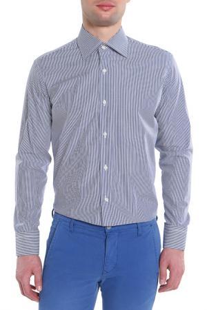 Рубашка POUL RICHARD. Цвет: белый,фиолетовый