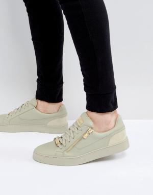 Glorious Gangsta Оливковые кроссовки с молнией. Цвет: зеленый