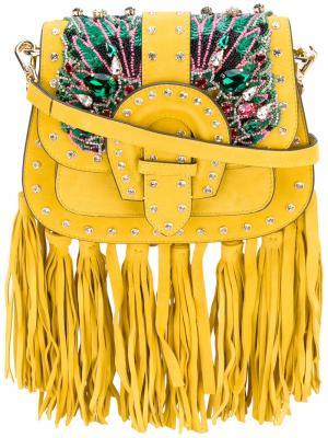 Embroidered tote Gedebe. Цвет: жёлтый и оранжевый